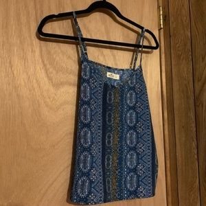 Hollister Blue Colorful Tank Top